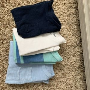 Set Of Four J Crew Tees (stained)
